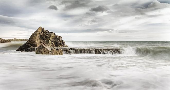 HD wallpaper of sea, water, ocean, storm