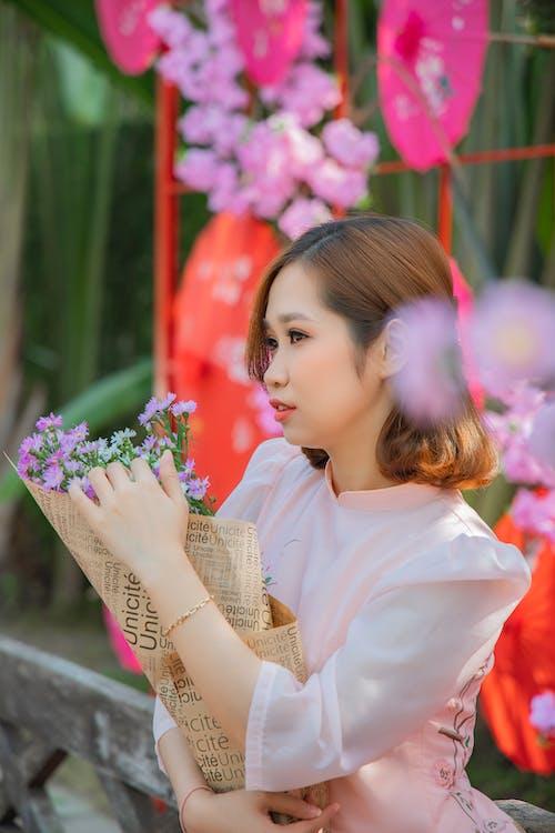 Free stock photo of beautiful, bouquet, bride