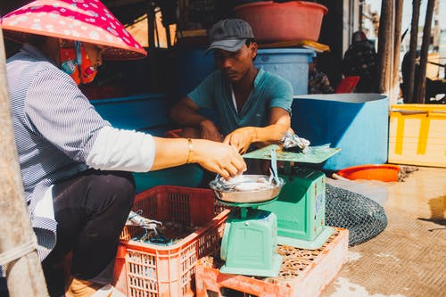 People at a Wet Market