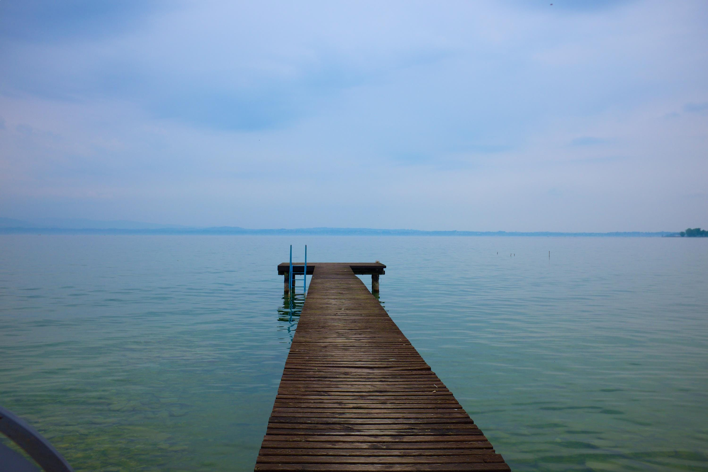 Wooden Dock Under Blue Sky