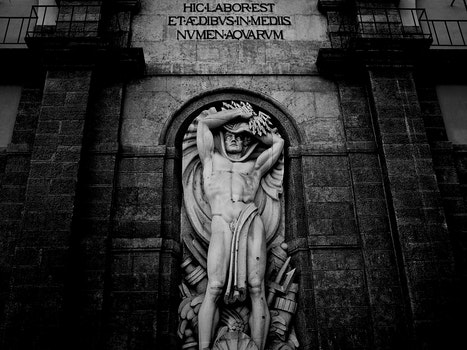 Free stock photo of black-and-white, historical, church, sculpture