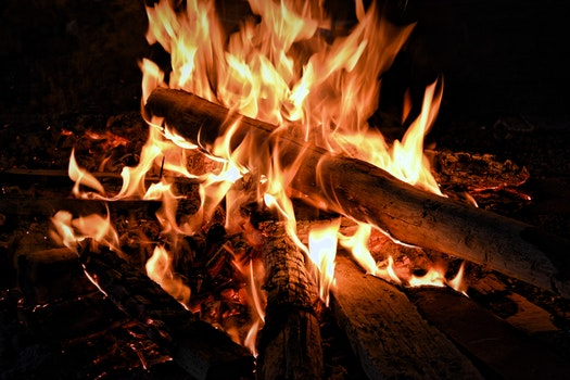 Bonfire during Nightime