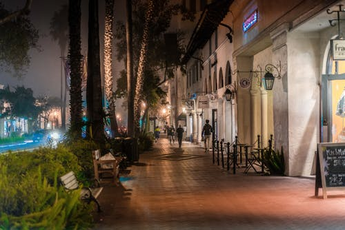 eyalet sokağı, gece, sis, sisli içeren Ücretsiz stok fotoğraf