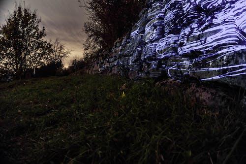 Ilmainen kuvapankkikuva tunnisteilla laser, muuri, pilvinen, pitkä valotusaika