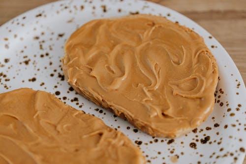 Foto d'estoc gratuïta de cremós, mantega de cacauet, primer pla