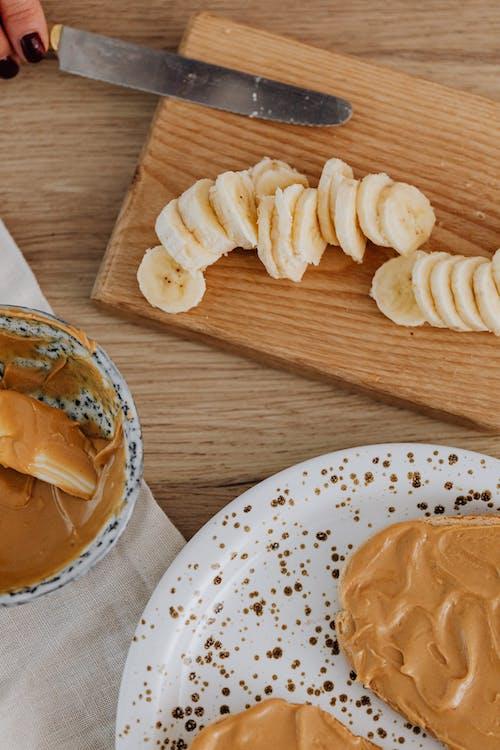 건강식품, 땅콩 버터, 바나나의 무료 스톡 사진