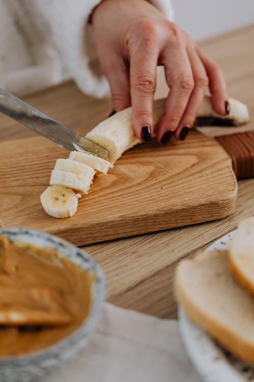 건강식품, 바나나, 슬라이스의 무료 스톡 사진