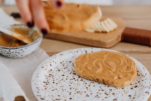 Foto d'estoc gratuïta de mantega de cacauet, primer pla, torrada