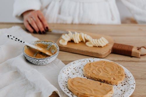 Foto d'estoc gratuïta de mantega de cacauet, menjar saludable, primer pla