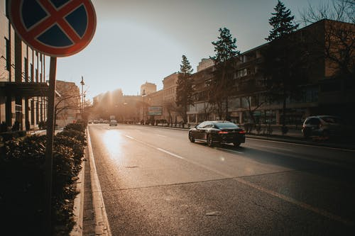 Free stock photo of black car, city, sunshine