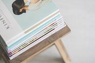 magazines, stack, reading