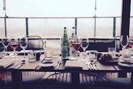restaurant, bottles, dinner