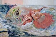 street, street art, fish