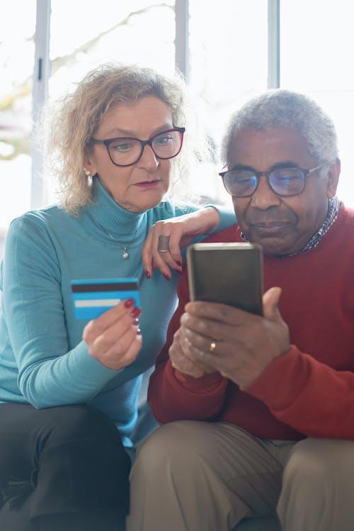 가족, 구매, 기술의 무료 스톡 사진