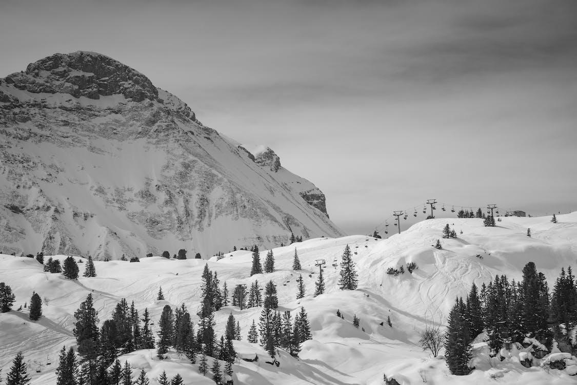 alpi, austria, bianco e nero