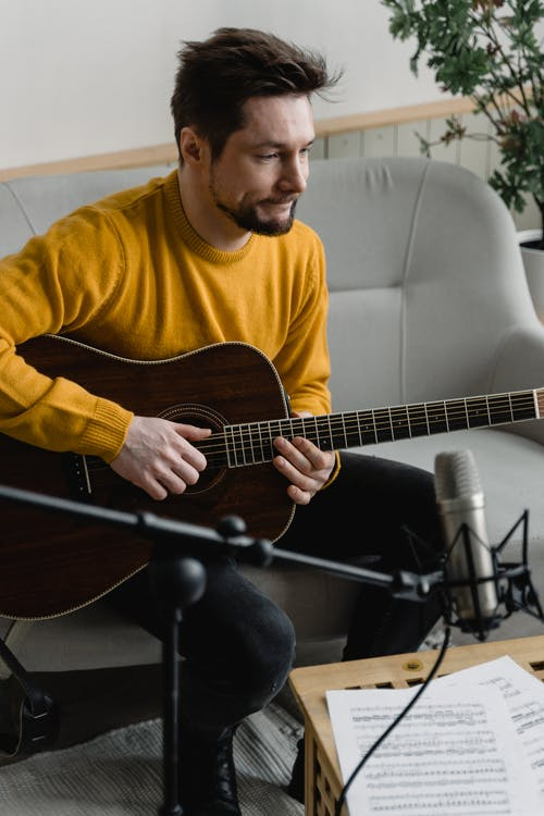 Free stock photo of acoustic, acoustic guitar, adult