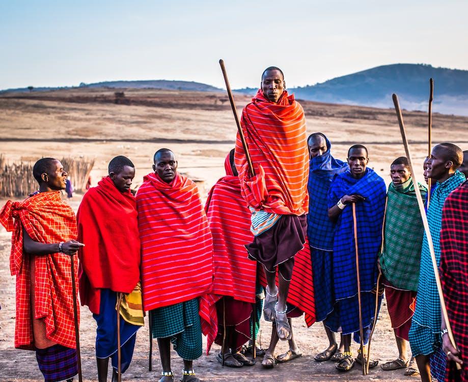 africké etnikum, Afrika, barevný