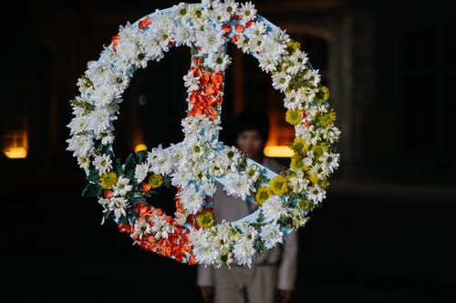 Flower Covered Peace Sign