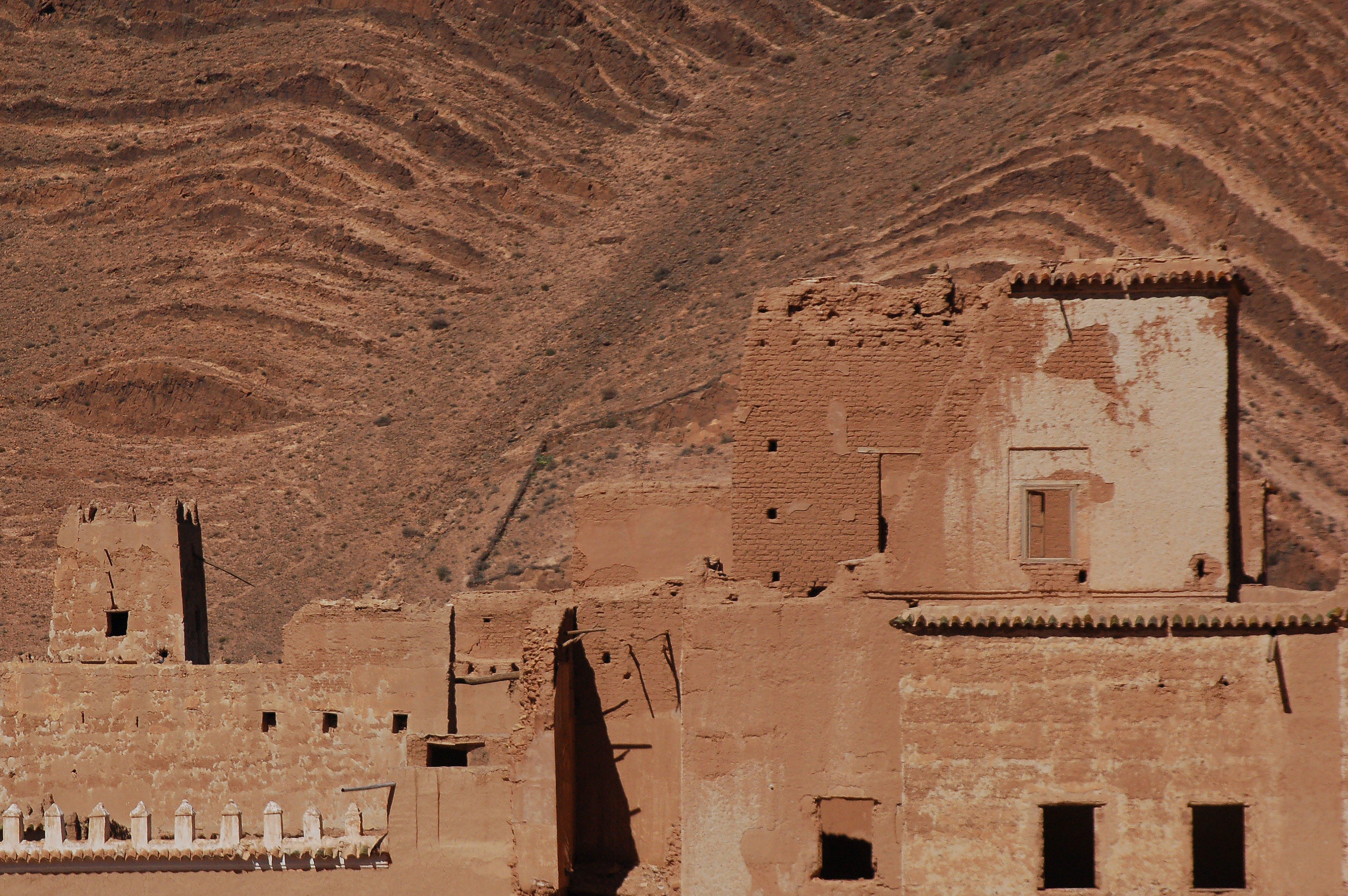 Základová fotografie zdarma na téma písek, poušť, starý dům