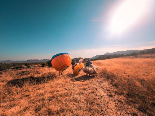 Photos gratuites de euphorie, faire du parachute, parachute