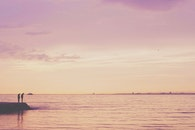 sea, sky, people