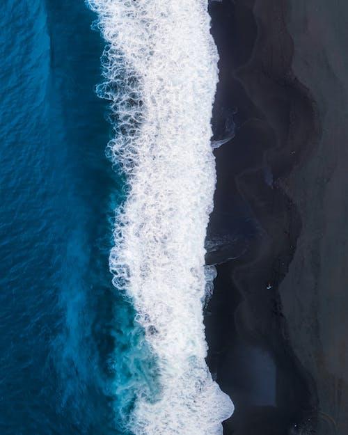 Kostenloses Stock Foto zu absturz, aufsicht, azurblau