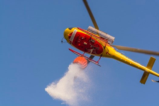 Free stock photo of water, blue, fire, helicopter