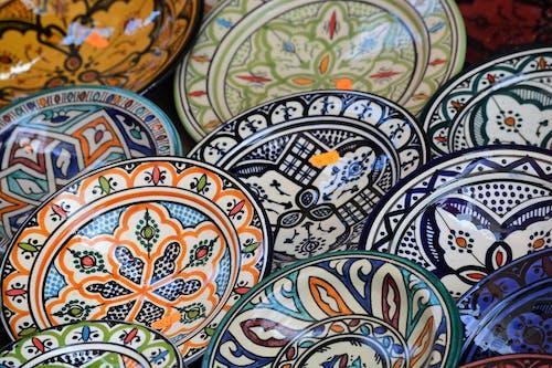 Foto profissional grátis de formas padrão, formas padronizadas, prato de cerâmica