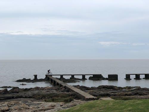Free stock photo of beach, bicycle, bridge