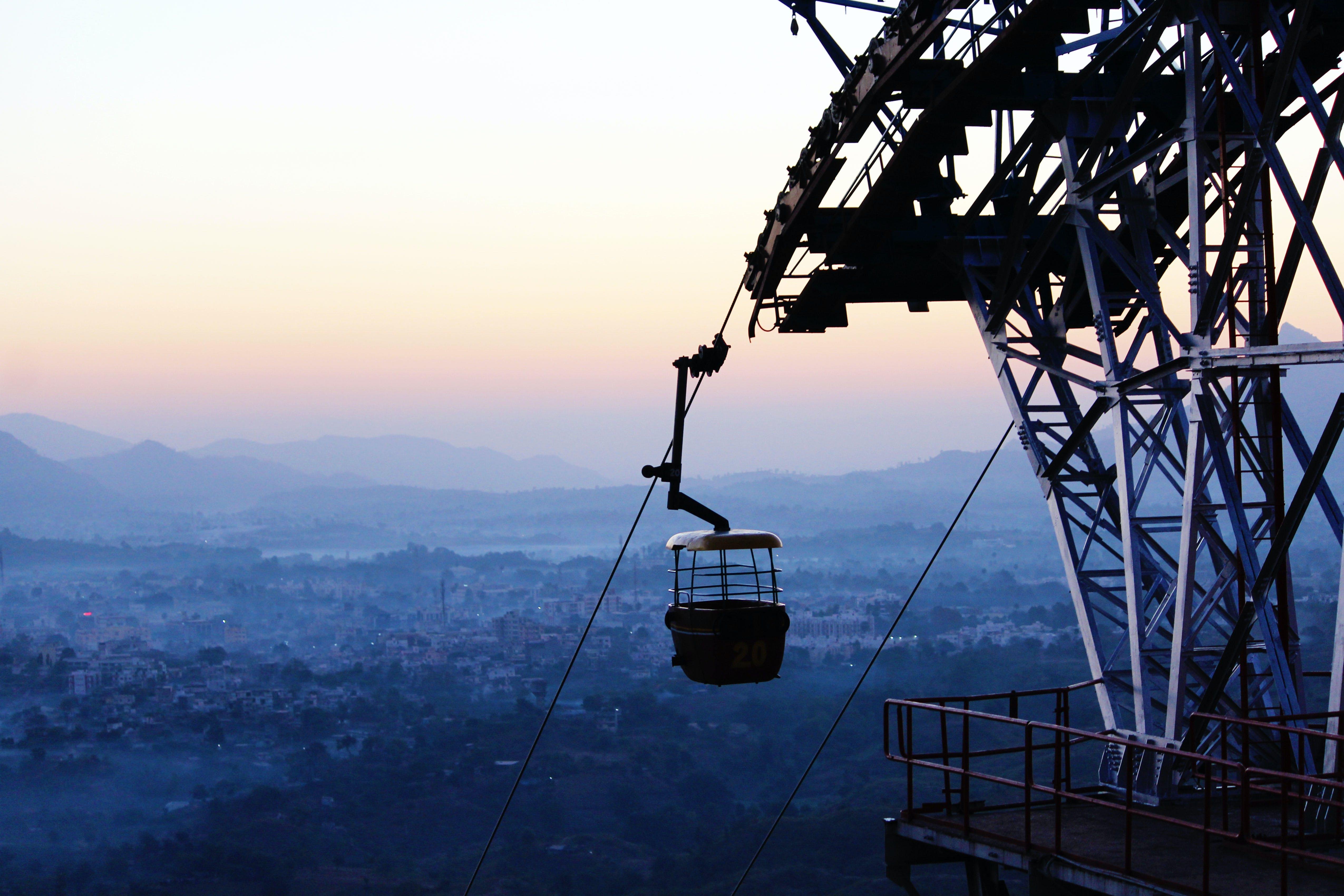 Základová fotografie zdarma na téma dopravní systém, fotografie, hory, kabely