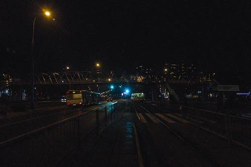 grochow, 华沙, 在晚上, 城市的燈光 的 免费素材照片