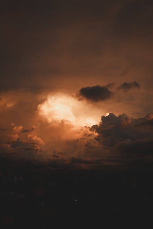 Free stock photo of above clouds, backlit, beautiful sky