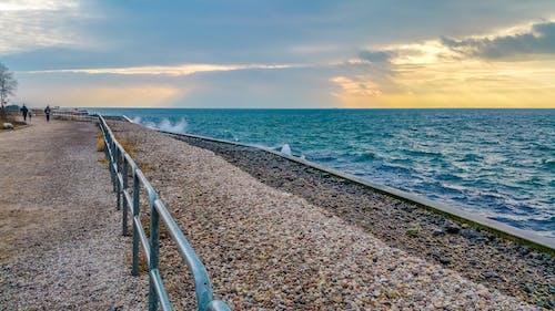 bulutlar, deniz, gökyüzü, Güneş içeren Ücretsiz stok fotoğraf