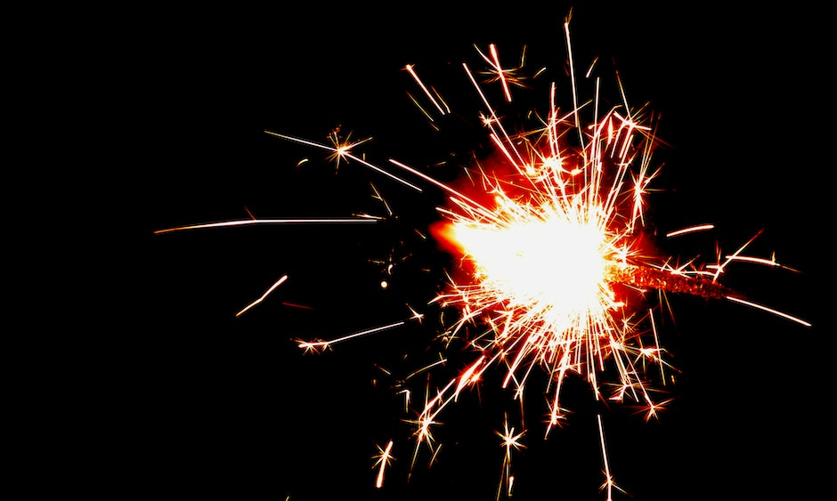 Fire Cracker Spark in Night Time Photography