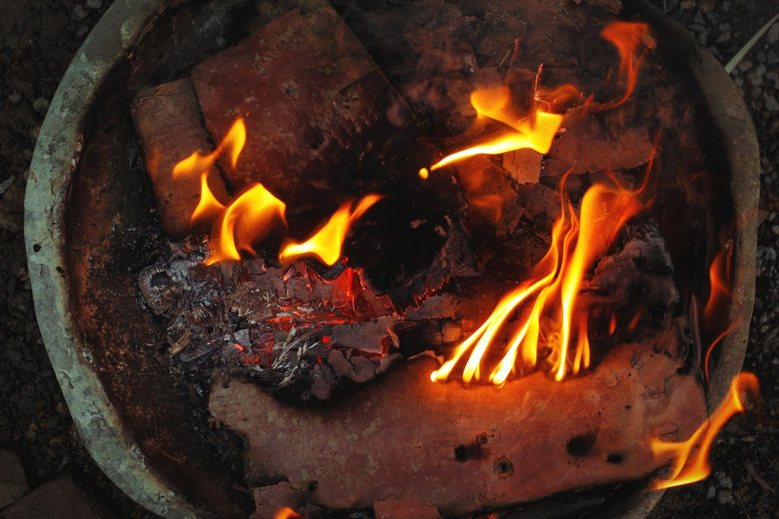 fogo, fogueira, incêndio