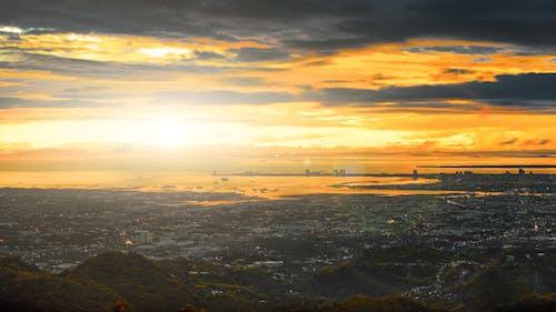 Photos gratuites de donnant sur, doré, lever de soleil