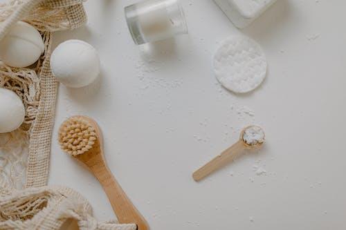 A Flatlay of Bath Essentials