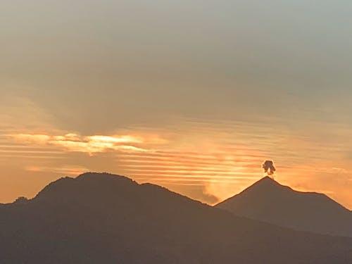 Free stock photo of back light, eruption, erution volcano