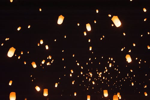 Immagine gratuita di cielo notturno, festival, festival successivo, latern
