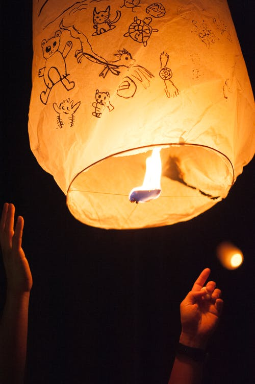 Free stock photo of latern, latern festival, nightsky