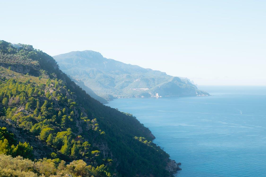 dagslys, fjell, hav