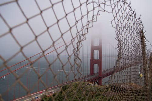 Gratis stockfoto met amerika, attractie, Golden Gate Bridge, hek