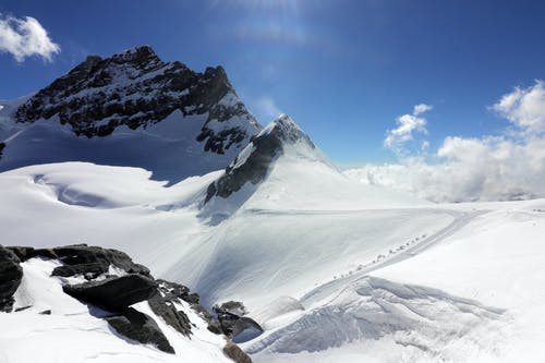 dağ, doğa, kar, Karla kaplı dağ içeren Ücretsiz stok fotoğraf