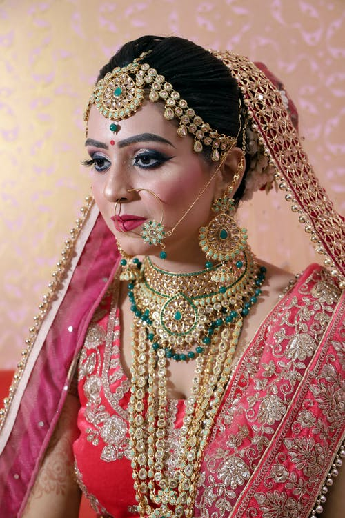Indian woman in traditional wedding dress