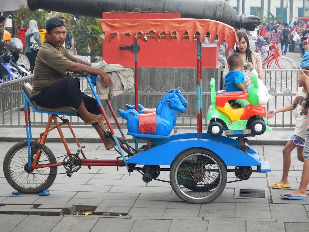 diversão, entretenimento, passeio de pedal