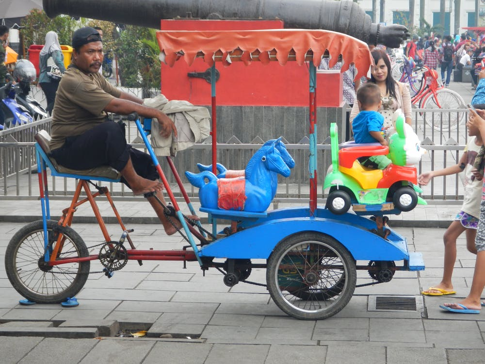 люди, педаль їзди, розвага