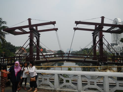 Free stock photo of Jembatan Kota Intan, lift bridge