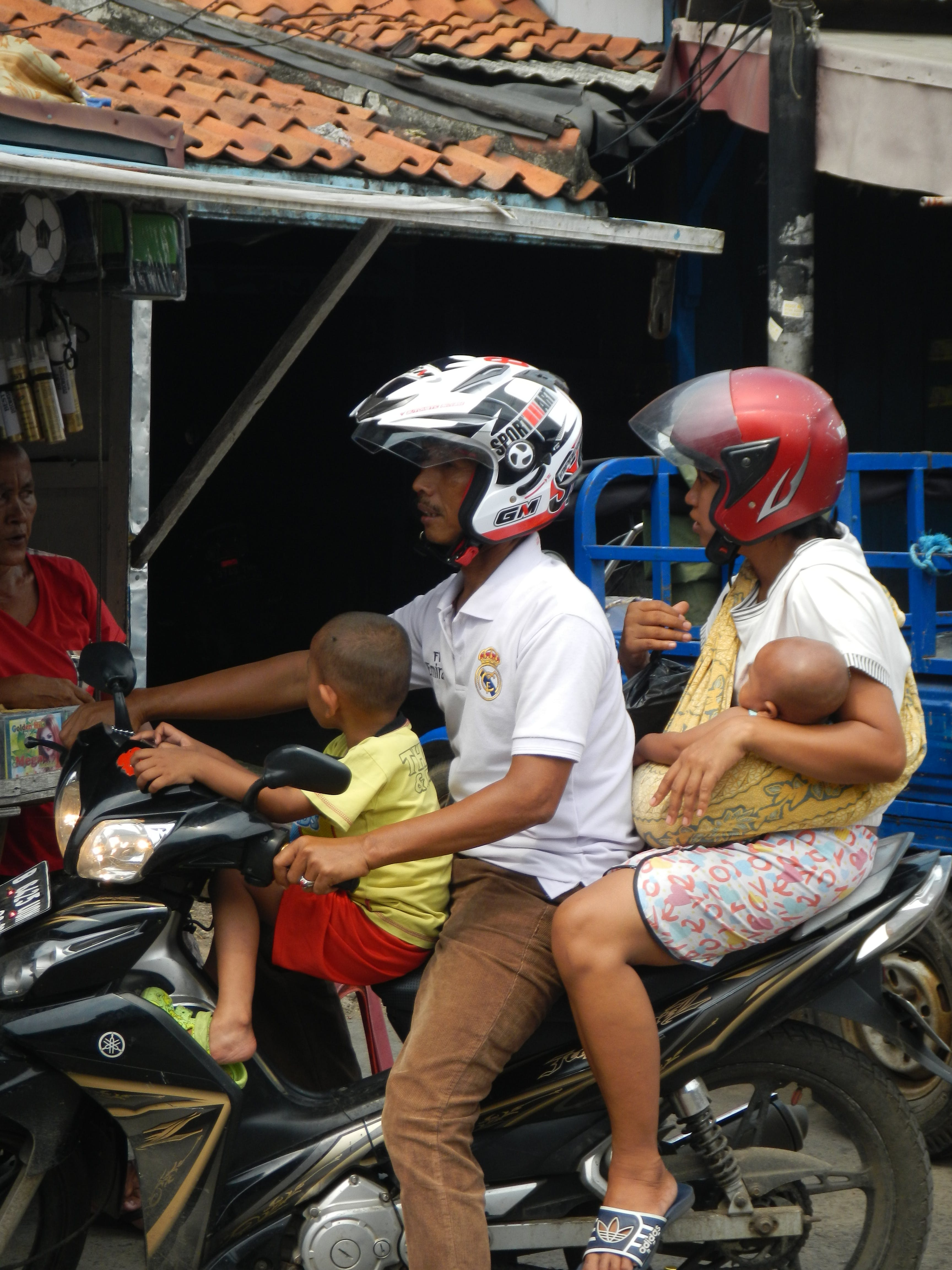 Free stock photo of family, motorcycle, people, scooter