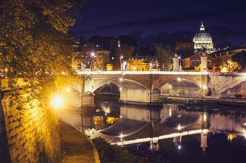 Free stock photo of architecture, at night, bridge