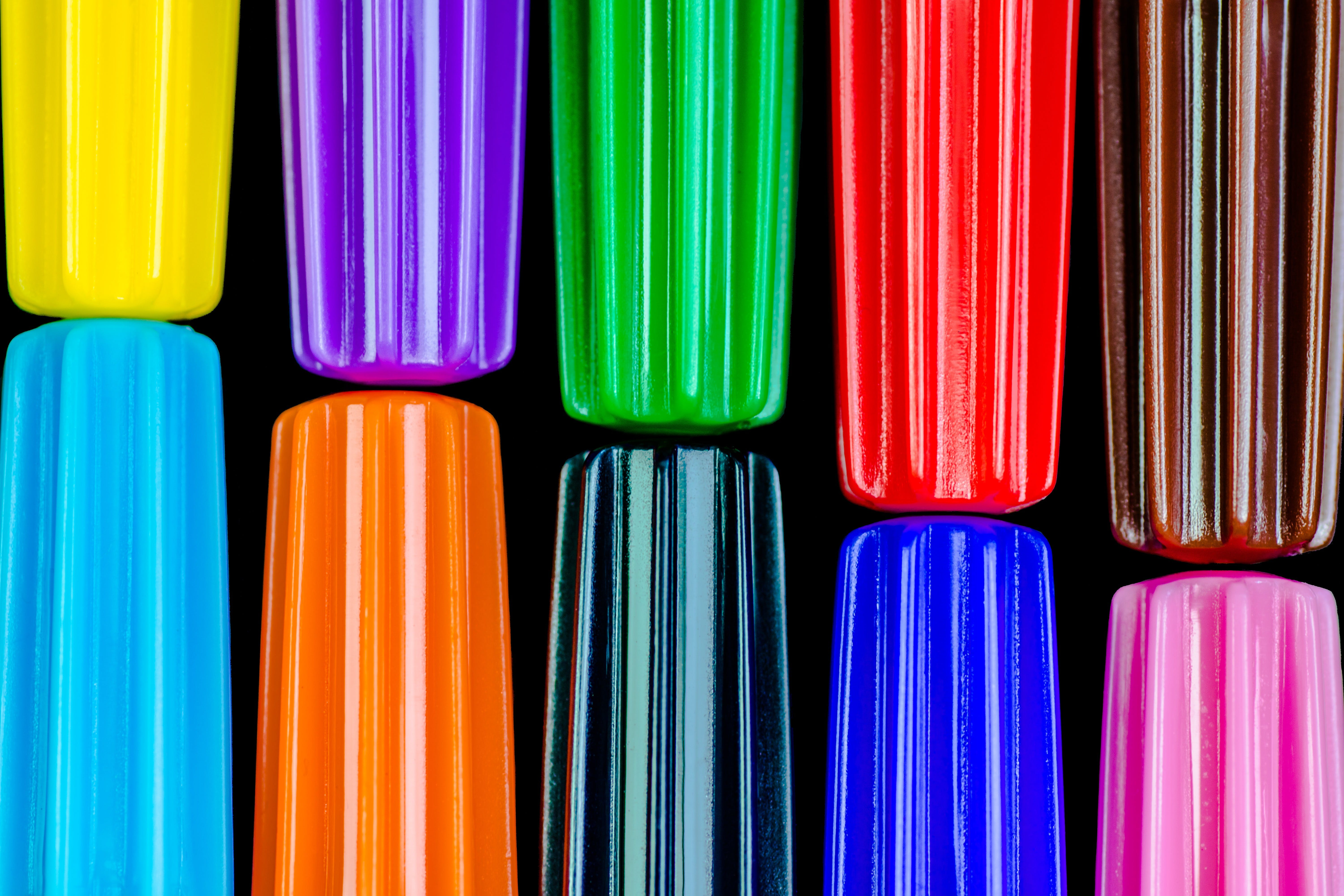 Free stock photo of pen, pens, school, colorful